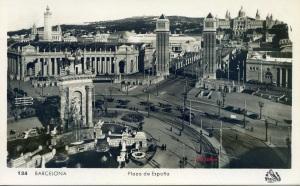 Barcelona nº 134  Plaza España. s/d 1929  con ventanilla 8 €