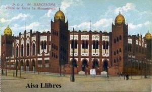Barcelona nº 94 Plaza de Toros La Monumental ed. Rovira SA s/f principios siglo XX 25 €