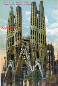 Barcelona nº 40 Templo de la Sagrada Familia. Ed. Rovira SA s/f principios siglo XX 25 €