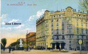 l Barcelona nº 20 Hotel Ritz ed. Rovira SA s/f (principios siglo XX, 25 €