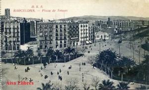 Barcelona  Plaza de Tetuan ed. Rovira SAA s/f principios siglo XX blanco y negro 15 €