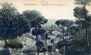 Barcelona Funicular de Vallvidrera ed. Rovira SA s/f principios siglo XX blanco y Negro  15 €