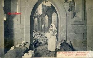 l Barcelona 10 Tibidabo Museo de Guerra Ambulancia ed. Roisin fotógrafo Barcelona s/f Primera Guerra Mundial 19 €