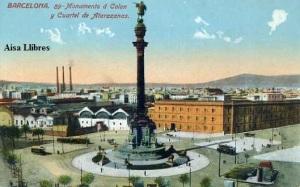 Barcelona nº 89 Monumento á Colon y cuartel de Atarazanas ed. Jorge Venini Barcelona serie standard s/f principios siglo XX 25 €