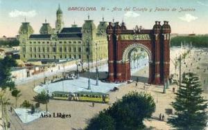 l Barcelona nº 16 Arco del Triunfo y Palacio de Justicia ed. Jorge Venini Barcelona serie standard s/f principios siglo XX 20