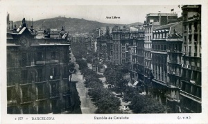 Postal Barcelona  277 Rambla Cataluña (JVB) con ventanilla 15 €
