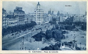 Postal Barcelona 12 Plaza Cataluña ed. L Roisin fot marca registrada 53425 s/d (1929 o 1930 ) 9 €