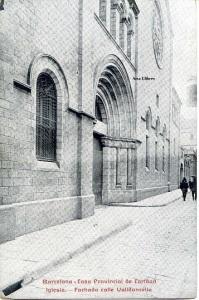 Postal Barcelona Casa Provincial de Caridad Iglesia Fachada calle Valdoncella imp. Casa Caridad s/f principios siglo XX. 15 €