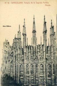 Barcelona nº 10 Templo de la Sagrada Familia  Ábside. Herederos Vda. Plá Barcelona  J Thomas s/f Principios siglo XX 15 €