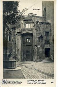 Barcelona Antiga Plassa del Rei nº 60  Raco tipic s/d principis segle XX 12 €