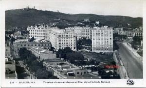 Barcelona 210 Construcciones moderna al final de la calle de Balmes. Ed, Oriol s/f (1929?) 16 €