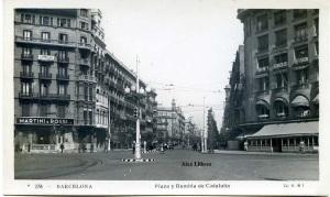 Barcelona nº 236 Plaza y Rambla de Cataluña  (JVB ) s/d 1929? 18 €