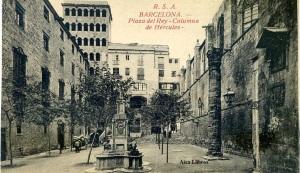 Barcelona Plaza del Rey Columna de Hércules ed. Rovira SA  123/20 s/f principis del segle XX 19 €