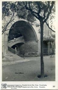 Barcelona antiga Hospital de la Sta Creu Escalinata .ed. Ricart IFG s/d principis segle XX, 18 €