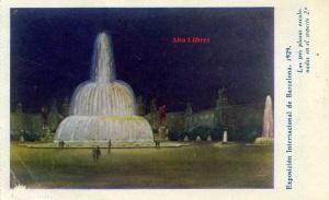 exposición Internacional de Barcelona 1929 las tres plazas escalonadas en el aspecto 2º  Dibujo (canto izquierdo algo desfigurado) Hueco grabado colo DEO París 134 Barcelona s/f 1929 8 €
