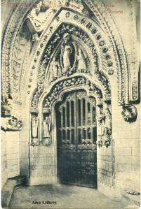 Barcelona nº 12 Templo de la Sagrada Familia Puerta del Rosario. Ed. Herederos de Plá. J Thomas Barcelona s/f principios siglo XX, 22 €