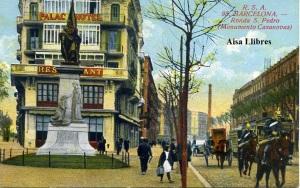 Barcelona 95 Ronda S Pedro (Monumento Casanovas) ed. Rovira SA s/f reg 123/34  20 €