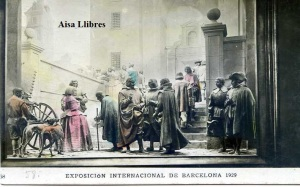 Barcelona Exposición Internacional de Barcelona 1929  Palacio Nacional Quevedo (Teatrino) ed. Concesiones Gráficas EIB  Barcelona 1929 postal coloreada 15 €