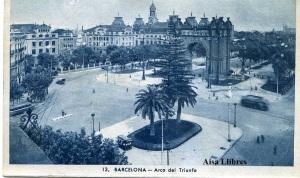 Barcelona 13 Arco del Triunfo ed. L Roisin Fot. Barcelona s/f (años 20)  con ventanilla 7 €