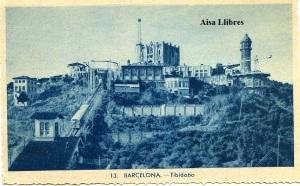 Barcelona 13 Tibidabo s/d años 20? Con ventanilla  9 €