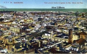 Barcelona 20 Vista parcial desde la Iglesia de Sta. Maria del Pino. Ed. Ángel Toldrá Viazo Barcelona s/f años 10? 18 €