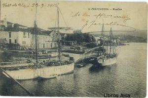 Pontevedra nº 8 Muelles. s/d. escrita al dorso y en portada  fechada el 29-9-1912  17 €