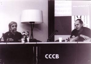 Manel Aisa i Chris Ealham en la presentació del libro