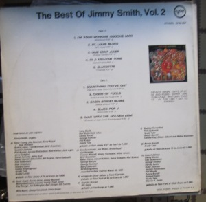 The best of Jimmy smith vol.2 dorso  14 €