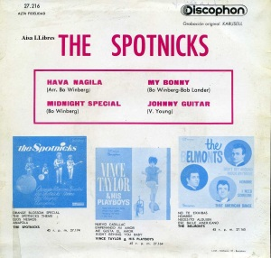 The Spotnicks Hava Nagila  1963  9 € Vinilo 45 dorso