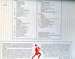 Fred Astaire Ritmo Fascinante Count Basie y su orquesta, Joe Williams  The Jonah Jones Quartet David Rose y su orquesta  Vinilo 1981  doble  50 € dorso con todas las canciones