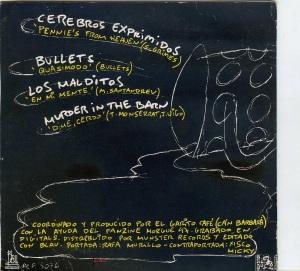 """cerebros exprimidos  """"Pennie 's from heaven´s"""" malditos  """"en mi  mente"""" vinilo 45, 1990 10 € dorso"""