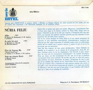 Núria Feliu   Alfie  Vinil 45   1967 7 €  dorso