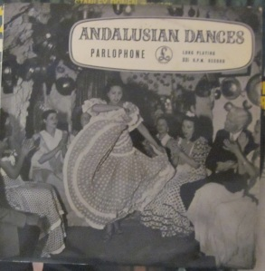 Andalusian Dances Bolero Flamenco; fandangos de Nerva, Cádiz Sevillanas, Soilearews y Fandango Seguiriyas para Bailar, ...  Ed.Hayes Middlewsex London  England  25 €