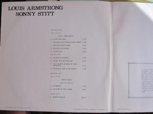 Louis Armstrong Sonny Stitt ed. Marfer Madrid 1978 LP Doble 45 €  repertorio