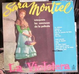 Sara Montiel  interpreta las canciones de la película La Violetera  25 €