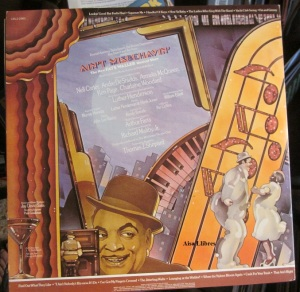 Ain't Misbehavin'  The New Fats Waller Musical Show  (doble LP) New York 1978  25 €  dorso
