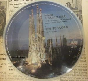 Himne de F C Barcelona vinilo singel 1972  14 €  Dorso