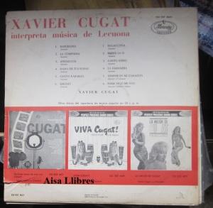 Xavier Cugat interpreta música de Lecuona 1964 LP Vinilo  30 € dorso