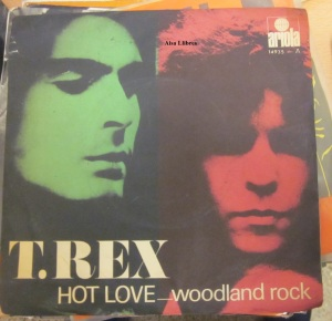 T. Rex Hot Love  Woodland Rock  1971 vinilo 45