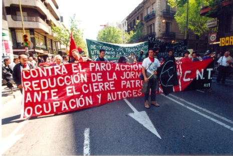 75  CNT Uno de Mayo Sans contra el paro acción directa  años 90
