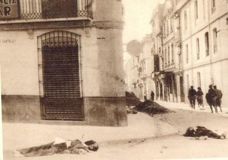 castellon de la Plana les tropes franquistes deixen un grapat de morts pel cami